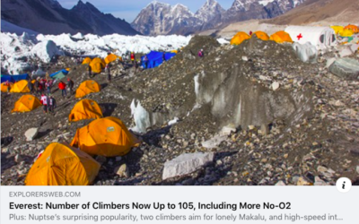 Everest: Number of Climbers Now Up to 105, Including More No-O2