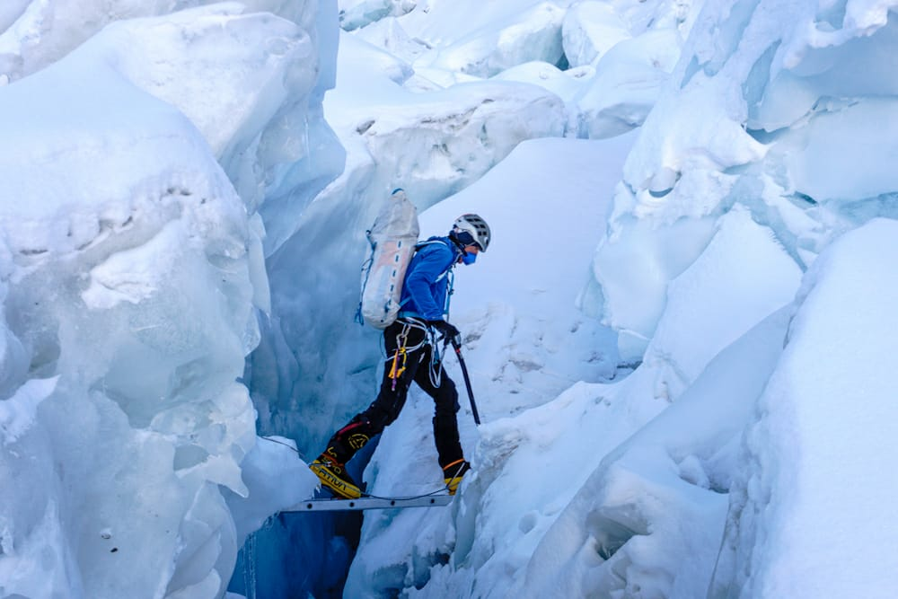 Back into the #Khumbu Icefall for a final rotation